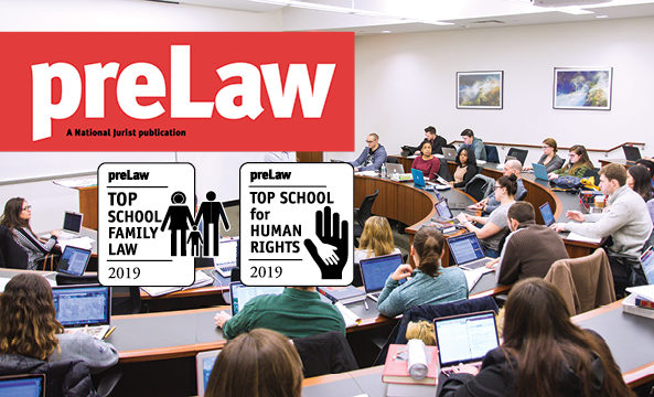 preLaw, top school for family law 2019, top school for human rights 2019